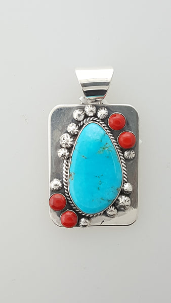 Turquoise with Coral