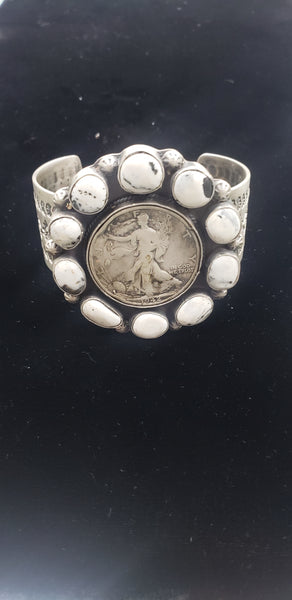 White Buffalo Coin Cuff