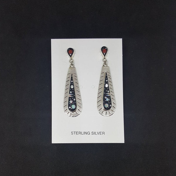 Shiny Teardrop Stud Earrings