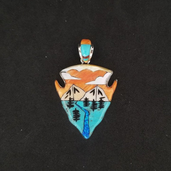 Arrowhead inlay Pendant