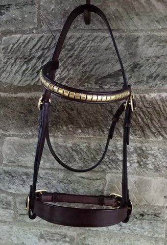 English Leather In Hand Bridle Jerome Nose band.