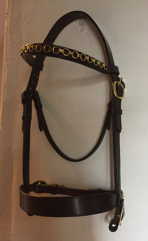 English Leather In Hand Show Stallion Bridle.
