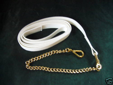 White Wide Web Heavy Chain Lead