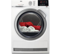 AEG ProSense T6DBG822N Condenser Tumble Dryer in White