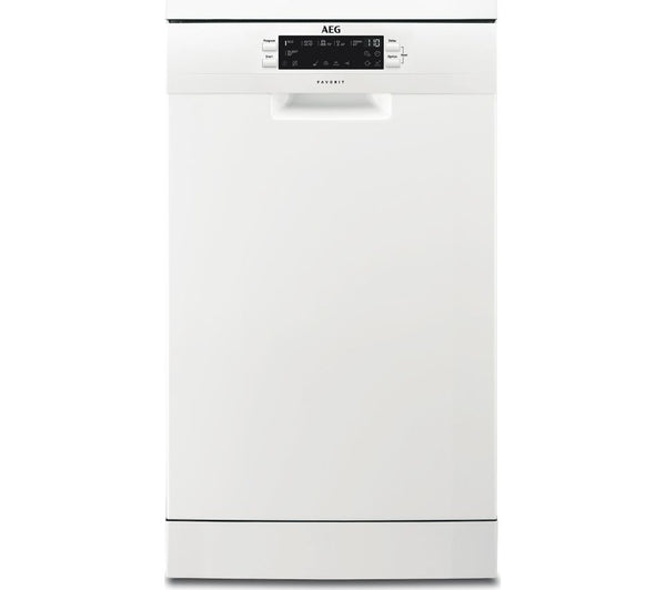 AEG FFB62400PW Slimline Dishwasher in White