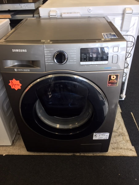 SSAMSUNG AddWash WW80K5410UX 8 kg 1400 Spin Washing Machine - Graphite Share Sha