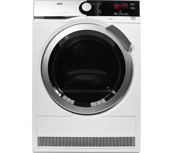 AEG SensiDry T7DEE835R Heat Pump Tumble Dryer in White