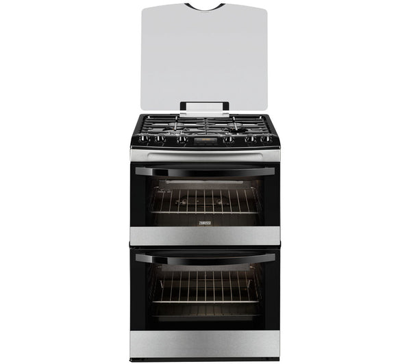 ZANUSSI ZCG63330XA Gas Cooker in Stainless Steel & Black
