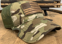Load image into Gallery viewer, Bourbon Barrel American Flag Patch + Notch Classic Hat
