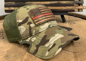 Bourbon Barrel American Flag Patch + Notch Classic Hat