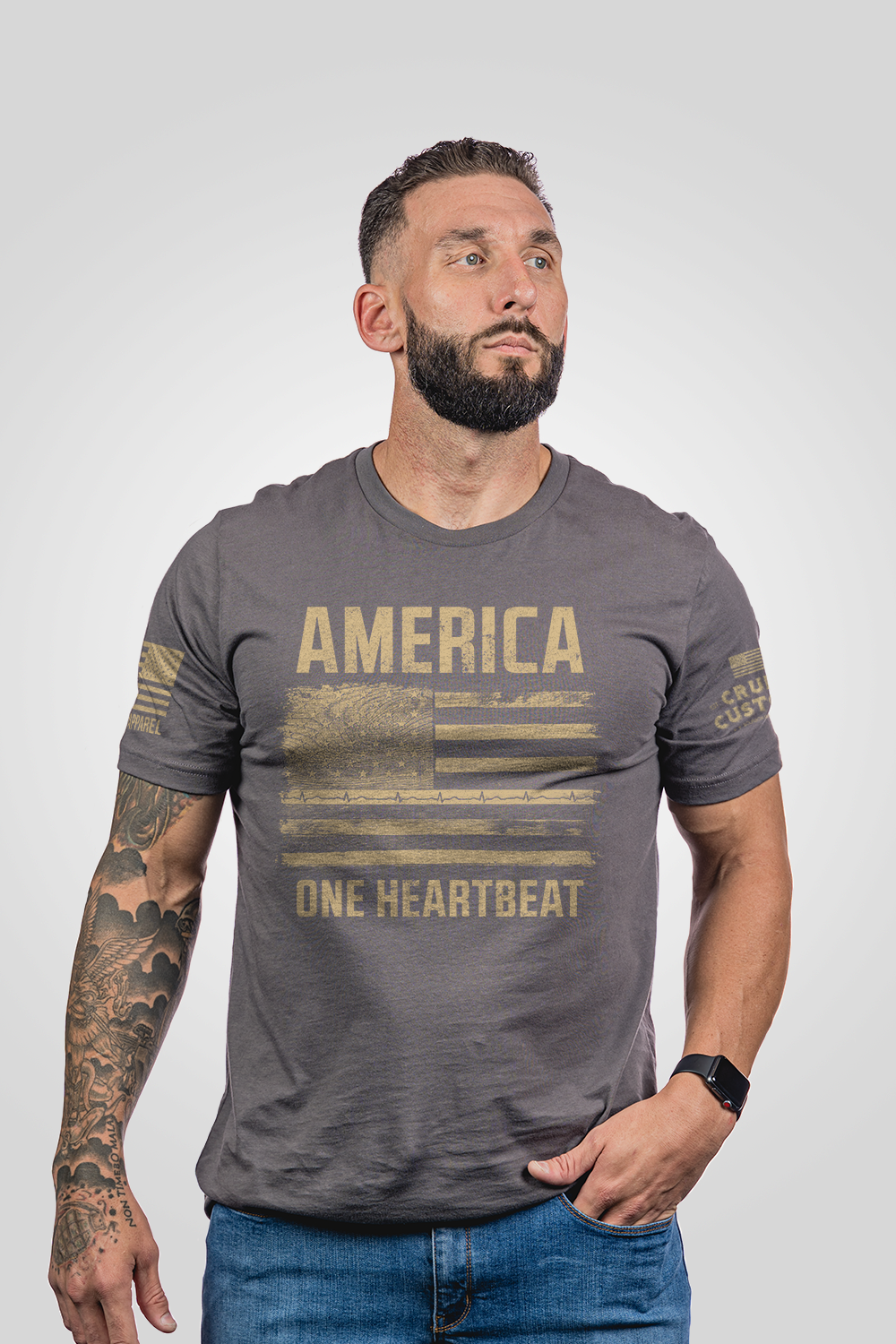Mens - America One Heartbeat Shirt