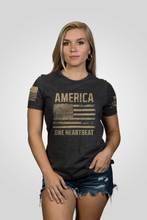 Load image into Gallery viewer, Womens - America One Heartbeat Shirt