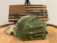 Load image into Gallery viewer, Bourbon Barrel American Flag Patch & Notch Classic Adjustable Multicam Operator Hat Combo