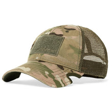 Load image into Gallery viewer, Thin Blue Line Bourbon Barrel American Flag Patch & Notch Classic Adjustable Multicam Operator Hat Combo