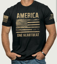 Load image into Gallery viewer, Mens - America One Heartbeat Shirt