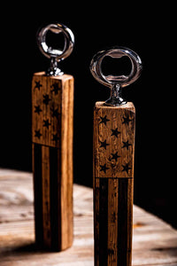 The Freedom Bourbon Barrel Bottle Opener