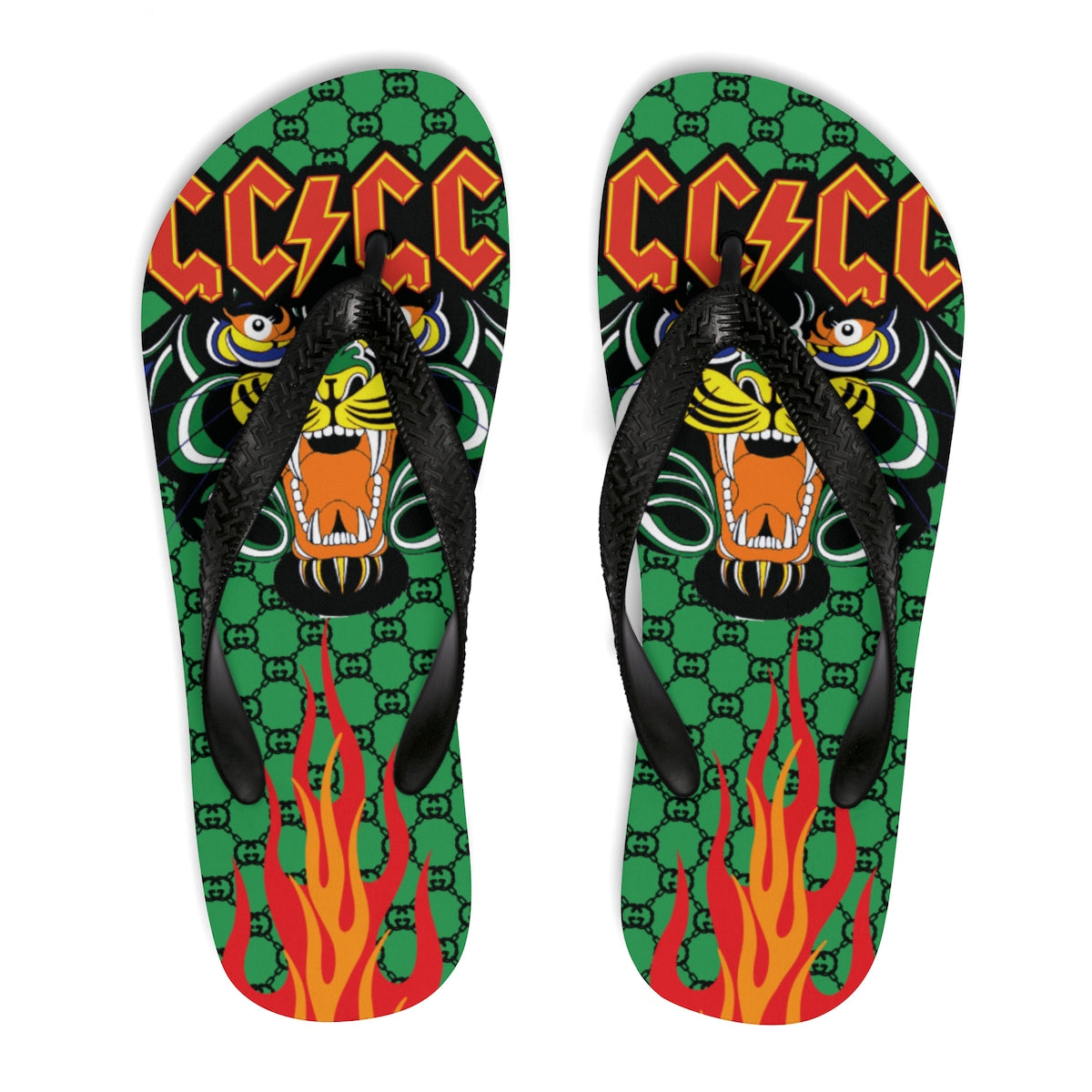 Gucci Inspired Unisex Flip-Flops 8bc6f4b74eac