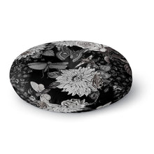 Butterflowers Round Floor Pillow
