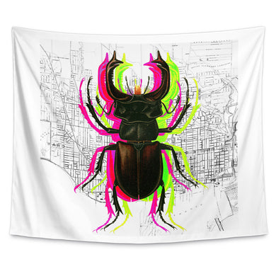 Trippy Bug Wall Tapestry