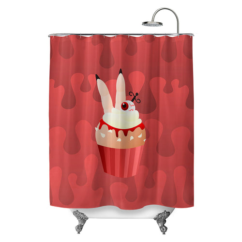Cannible Cupcake Shower Curtain