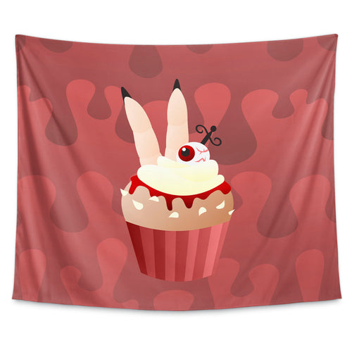 Cannible Cupcake Wall Tapestry