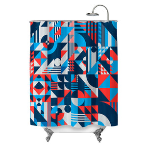 Shapes Pattern Shower Curtain