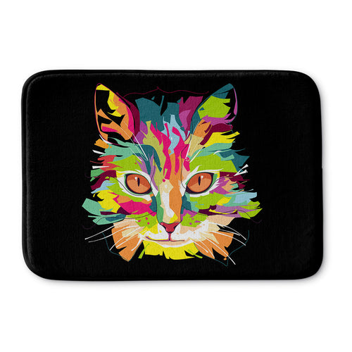 Cubist Pop Art Cat Bath Mat