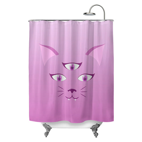 Devil Kitty Shower Curtain