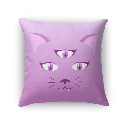 Devil Kitty Throw Pillow