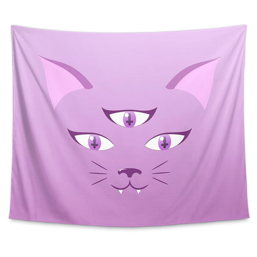 Devil Kitty Wall Tapestry
