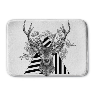 Stag and Roses Bath Mat