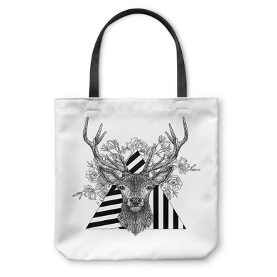 Stag and Roses Tote Bag
