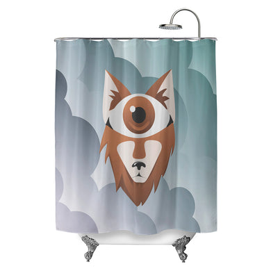 Eye Wolf Shower Curtain