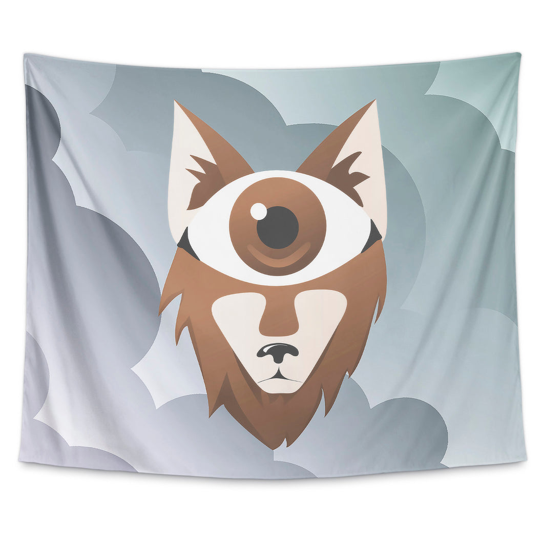 Eye Wolf Wall Tapestry
