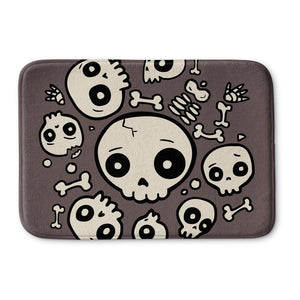 Skull Friends Bath Mat