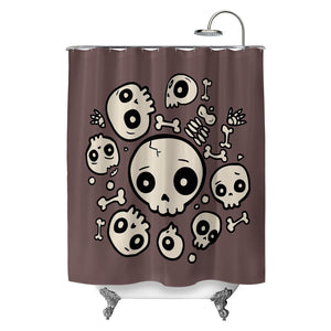 Skull Friends Shower Curtain