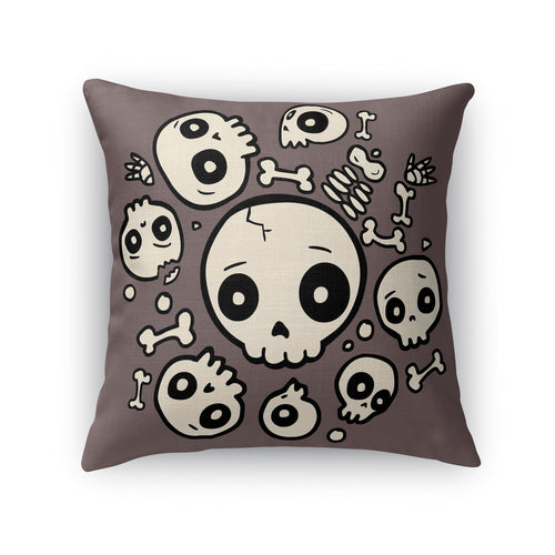 Skull Friends Throw Pillow
