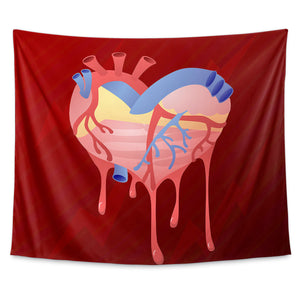 Heart Attack Wall Tapestry