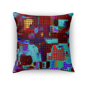 Messing With Rubik Throw Pillow