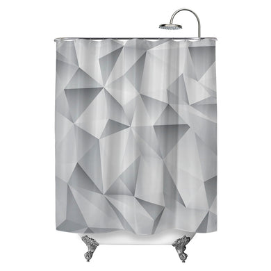 White Crystal Shower Curtain