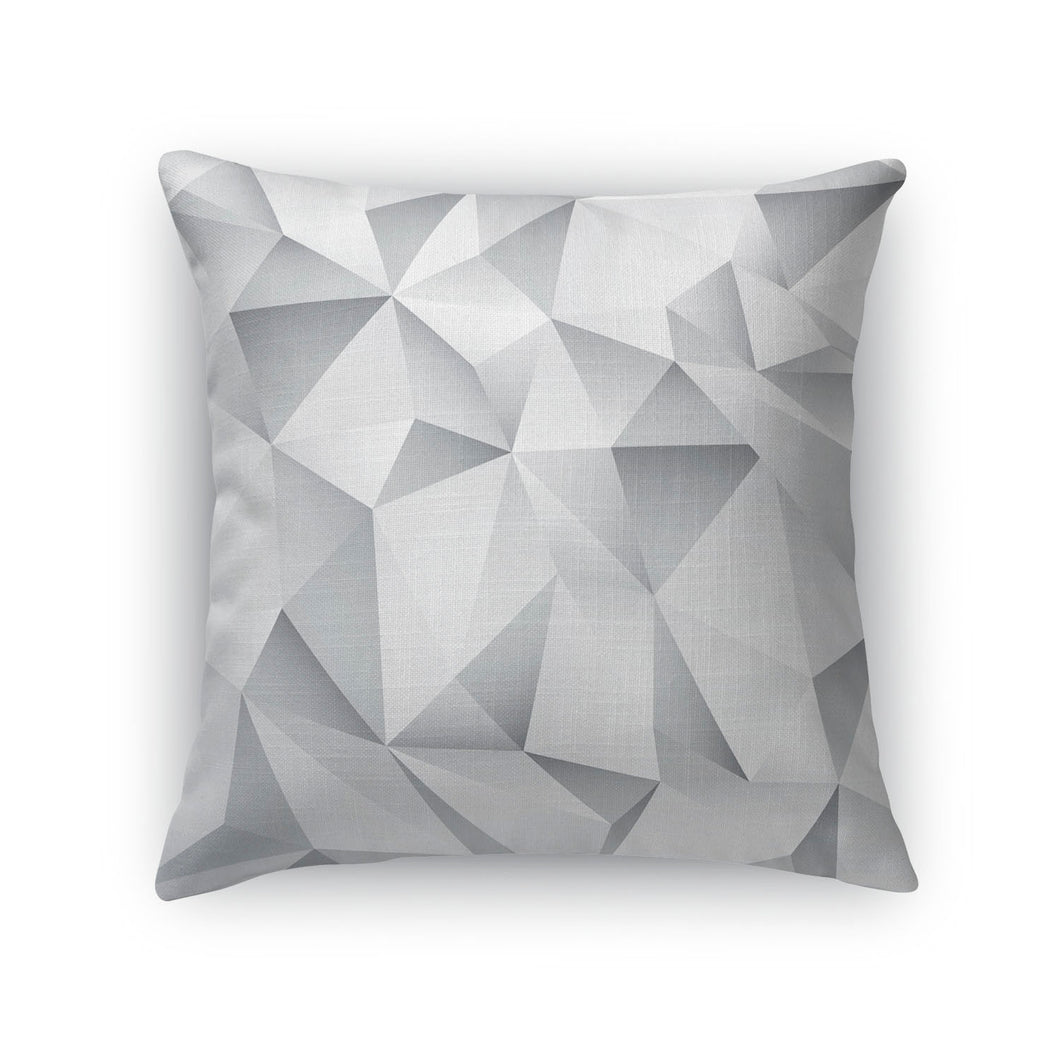 White Crystal Throw Pillow