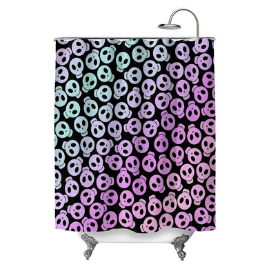 Pastel Skulls Shower Curtain