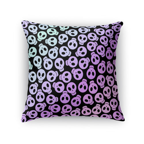 Pastel Skulls Throw Pillow