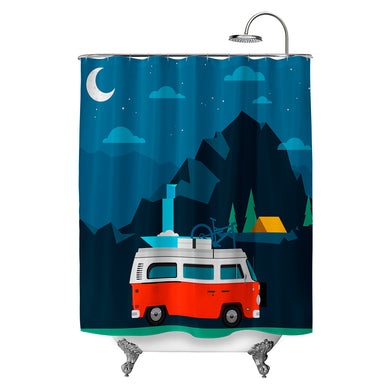 Red Van Shower Curtain