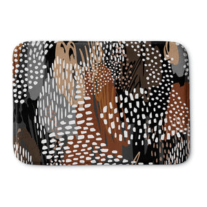 Abstract Cappuccino Bath Mat