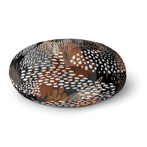 Abstract Cappuccino Round Floor Pillow