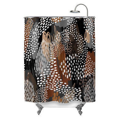 Abstract Cappuccino Shower Curtain