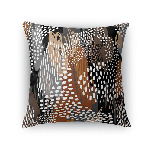 Abstract Cappuccino Throw Pillow