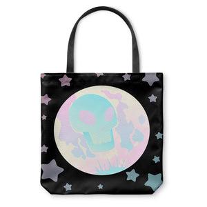 Pastel Skull Moon Tote Bag