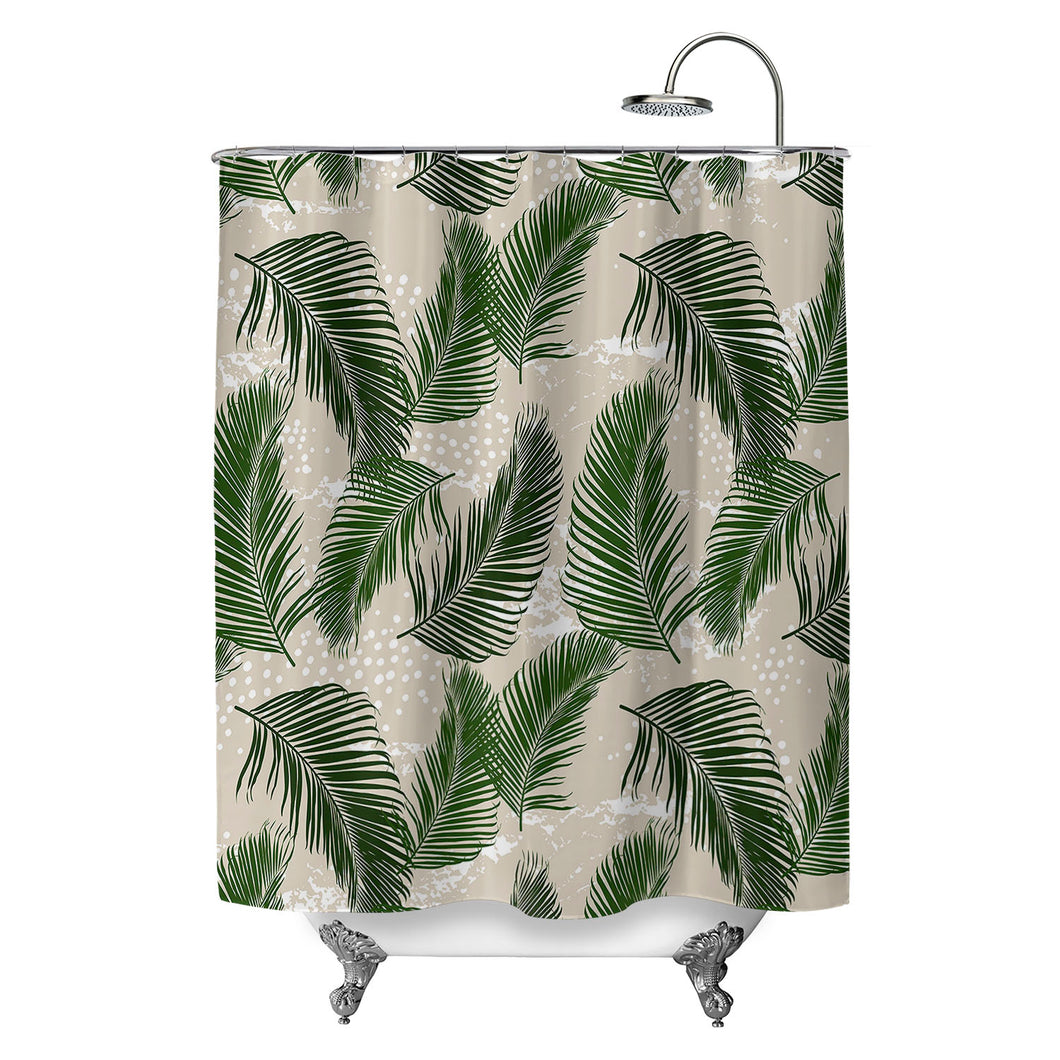 Tropical Palms Green Shower Curtain
